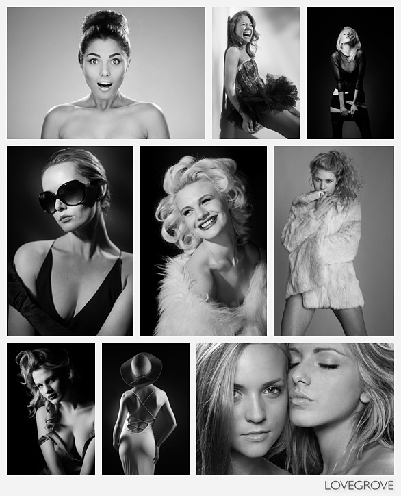 Model portfolio shoots by Damien Lovegrove