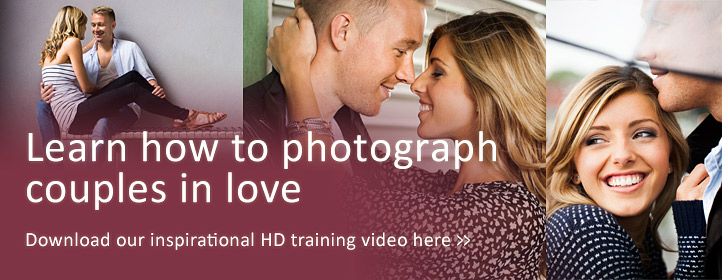 How to photograph couples, a photographic training video by Damien Lovegrove